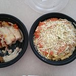 Take out dishes uncovered from Olive Garden