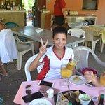 Riu Employee enjoying a great drink.....