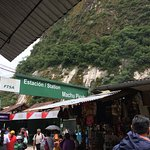 The Aguas Calientes station.
