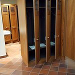 Locker room before entering the spa, no photos from here in