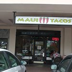 outside view Maui Tacos Napili in January 2017
