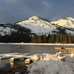 Donner Lake Village is on the edge of the lake with this view.