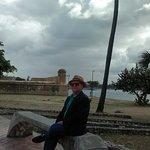 Cerca del hotel Sheraton Santo Domingo descansando