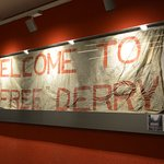 Original Free Derry banner (Pic by Charlie McMenamin)