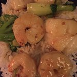 Shrimp with coconut.