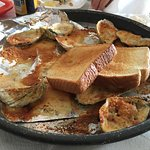 Baked Oysters and Garlic toast