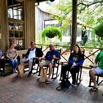Our group resting after shoppin at the Country Store.