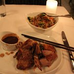 A perfect dinner of Asian Five Spice seasoned duck.