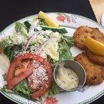 Crab and shrimp croquettes, $15.  Beach House Cafe, 2775 Island Hwy, Qualicum Beach,