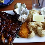 Ribs and Calamari combo