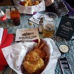 Fish and chips with beer ;)