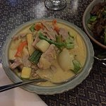 Yellow curry with pork