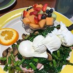 One of the eggs Benedict specials! The fruit was as delicious as it looks.