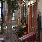 Fall decorations on Elfreth's Alley.