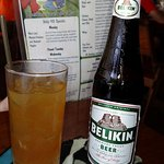 Rum Punch and Belikin - can't go wrong!
