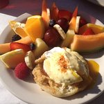 BEST Breakfast - We ordered the Fruit Plate & Crab Eggs Benedict and shared - Which was Amazing!