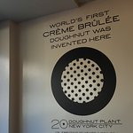 The original Creme Brulee doughnut invented here