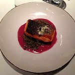 King Salmon with lentils at BlueZoo