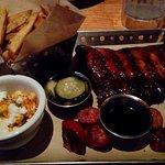 Smokehouse Combo, sausage & ribs ~AS