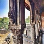 the wooden columns