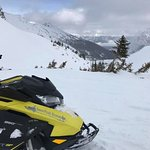 Beautiful view and amazing riding with snow peak rentals in golden BC