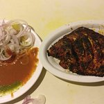 fresh and well marinated pomfret tandoor