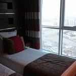The view is only city size(not sea nor sheike zayed) on two bed rooms suite