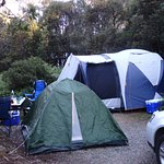 Fitted a big tent, little tent, car and our cooking gear all on one site eaasily.