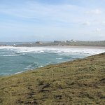 Fistral Beach from the cliff-top 1