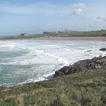 Fistral Beach from the cliff-top 2