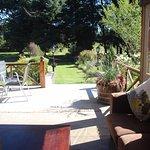 Comfortable back patio