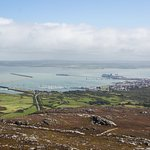 View of Holyhead from the mountain (the Country Park is everything left of the road and breakwat