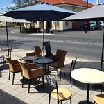 Pavement seating area