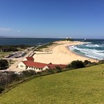 the view of Nobby's beach from the Fort