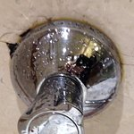 Around tap area for shower - cracked and split