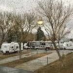 RV sites (this happened to be a rainy day)