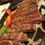 Heavenly Kobe steak and sukiyaki, two thumbs up.