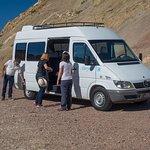 Our trusty tour van