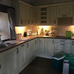 Kitchen in the cottage (Bothy)
