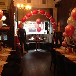 "Balloons and ""Special Guests"" at Pauline's 50th @ Esca, Glasgow"