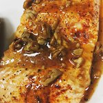 Honey Pecan glazed salmon....a nightly special and a favorite!