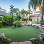 Enjoy complimentary mini golf