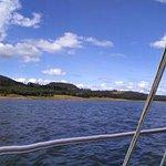 Navegando en la represa.