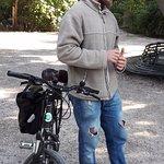 Athens by bike tour guide Dimitris explaining history