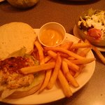 For under $9 you order a crab cake sandwich with fries!