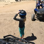 My little one LOVED IT! First experience on an ATV.