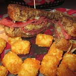 Corn Beef with tater Tots