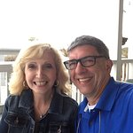 my wife & I on the patio at Henderson Inn