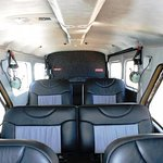 The very comfortable interior of our 6 seater De Havilland Beaver!