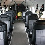 The roomy interior of our 10 seater De Havilland Otter!